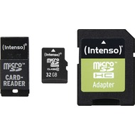 Intenso microSD Card Adapter Set 32 GB, microSDHC + USB & SD Adapter