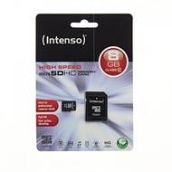 Intenso microSDHC Speicherkarte, Class10, 8 GB