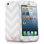 iSkin slims - Schutzhülle mit Displayschutz für Apple iPhone 5/ 5S/ SE - weiß, grau