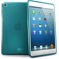 iSkin Solo FX - Silikon Schutzhülle für Apple iPad mini - blau, transparent