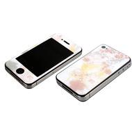 J-Straps Skin Gelschutz MTV für iPhone 4, white grace