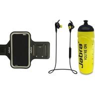 Jabra Sport Pulse Wireless mit Trinkflasche und Sportarmband