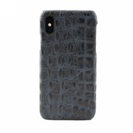 JT Berlin BackCase Kreuzberg, Apple iPhone Xs/ X, darkblue croco, 10434