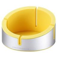 JustMobile Halter AluCup Grande für Smartphone (bis 78 mm Breite), gelb