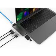Kanex 7-Port USB-C Hub, Apple MacBook Pro 13/ 15 (2016 - 2019), space grau, K172-1041-RJ45