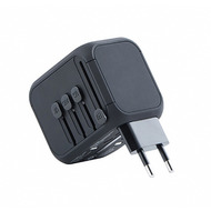 Kanex Travel Ladegerät, 3x USB/ 1x USB-C, 5A, US, UK, EU, AU, schwarz, K160-1057-USBC
