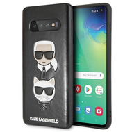 Karl Lagerfeld Choupette Embossed Hülle- Samsung Galaxy S10e - Schwarz
