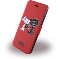 Karl Lagerfeld Choupette In Love - Kunstleder BookCover - Apple iPhone 7 - Rot
