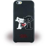 Karl Lagerfeld Choupette in Love, TPU Cover für Apple iPhone 6/ 6S, schwarz