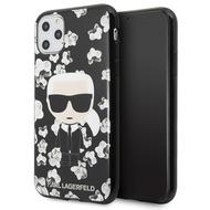 Karl Lagerfeld Flower Case - Apple iPhone 11 Pro Max - Schwarz - Cover - Schutzhülle