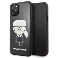 Karl Lagerfeld Iconic Double Layer Glass Case - Apple Iphone 11 Pro Max - Schwarz - Cover Schutzhülle