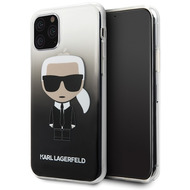 Karl Lagerfeld Iconic Gradient Case - Apple iPhone 11 Pro Max - Schwarz - Hard Cover - Schutzhüllen