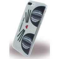 Karl Lagerfeld K-Kocktail - Glitter Silikon Cover - Apple iPhone 7 Plus - Silber