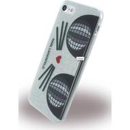Karl Lagerfeld K-Kocktail - Glitter Silikon Cover - Apple iPhone 7 - Silber