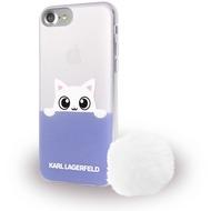 Karl Lagerfeld K-Peek A Boo - Glitter Silikon Cover - Apple iPhone 7 - Blau