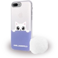 Karl Lagerfeld K-Peek A Boo - Glitter Silikon Cover - Apple iPhone 7 Plus - Blau