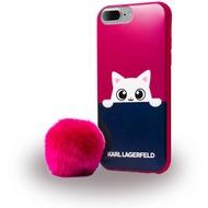 Karl Lagerfeld K-Peek A Boo - Glitter Silikon Cover - Apple iPhone 7 Plus - Pink