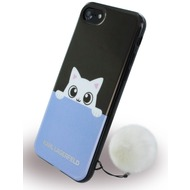 Karl Lagerfeld K-Peek A Boo - Silikon Cover - Apple iPhone 7 - Schwarz/ Blau