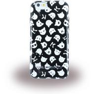 Karl Lagerfeld K-Print CATS, TPU Cover für Apple iPhone 6/ 6S, schwarz