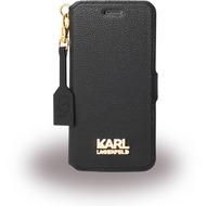 Karl Lagerfeld K Grainy, Book Tasche für Apple iPhone 6/ 6S, schwarz/ gold