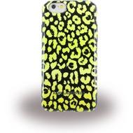 Karl Lagerfeld Kamouflage, TPU Cover für Apple iPhone 6/ 6S, gelb/ schwarz