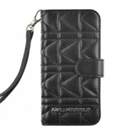 Karl Lagerfeld Kuilted - Book Tasche/ Hülle/ Case - Apple iPhone 5, 5S