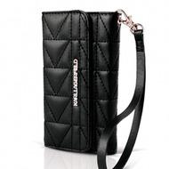 Karl Lagerfeld Kuilted - Clutch/ Handy Handtasche/ Schutzhülle - Apple iPhone 5,5S