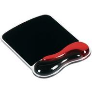 Kensington Duo Gel Wave für Maus, rot/ schwarz