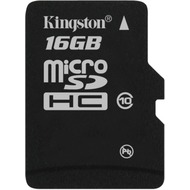 Kingston Micro-SD Card 16GB SDHC C10 ohne Adapter