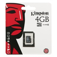 Kingston Micro-SD Card 4GB SDHC C10 ohne Adapter
