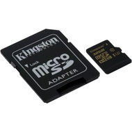 Kingston microSD Card Gold - Class 10 UHS-1 U3 - m. Adapter - 32GB