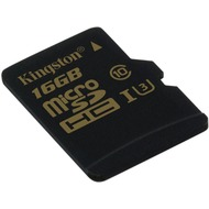 Kingston microSD Card Gold - Class 10 UHS-1 U3 - o. Adapter - 16GB