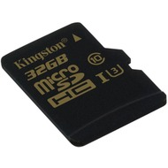 Kingston microSD Card Gold - Class 10 UHS-1 U3 - o. Adapter - 32GB