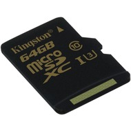 Kingston microSD Card Gold - Class 10 UHS-1 U3 - o. Adapter - 64GB