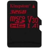 Kingston microSDHC 100/ 70 U3 UHS-I V30 A1 Single Pack, 32 GB