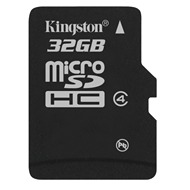 Kingston microSDHC Card 32GB Class 4 mit Adaptern