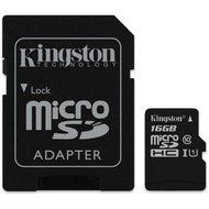 Kingston microSDHC Card Class 10 UHS-1 mit SD Adapter, 16GB