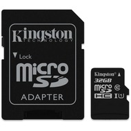 Kingston microSDHC Card Class 10 UHS-1 mit SD Adapter, 32GB