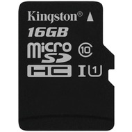 Kingston microSDHC Card Class 10 UHS-1 ohne Adapter, 16GB