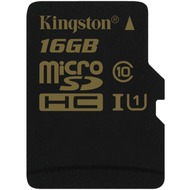 Kingston microSDHC Class 10 UHS-I, 16GB ohne Adapter