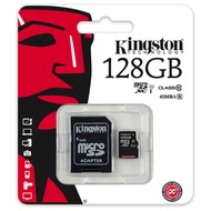 Kingston microSDXC Card Class 10 UHS-1 mit SD Adapter, 128GB