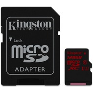 Kingston microSDXC Class 10 UHS-3, 128GB mit Adapter