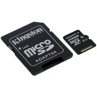 Kingston microSDXC Class 10 UHS-I Card + SD Adapter, 256GB