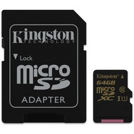 Kingston microSDXC Class 10  UHS-I, 64GB mit Adapter