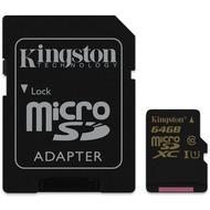 Kingston microSDXC Class 10  UHS-I, 64GB mit Adapter