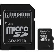Kingston microSDHC Card 8GB Class 4