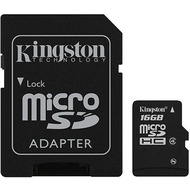 Kingston microSDHC Speicherkarte, Class4, 16GB