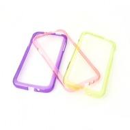 Konkis 3in1 TPU Bumper f�r Samsung  Galaxy S4,  lila, hell gr�n, pink