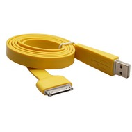 Konkis Flat Lade- und Datenkabel (30Pin) für iPhone/ iPad, gelb