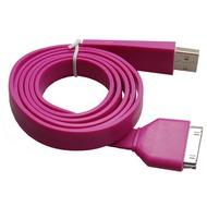Konkis Flat Lade- und Datenkabel (30Pin) für iPhone/ iPad, lila